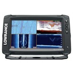 LOWRANCE COMBINE COULEUR ELITE 9 TI - SONDE 83/200/455/800 kHz - TABLEAU ARRIERE