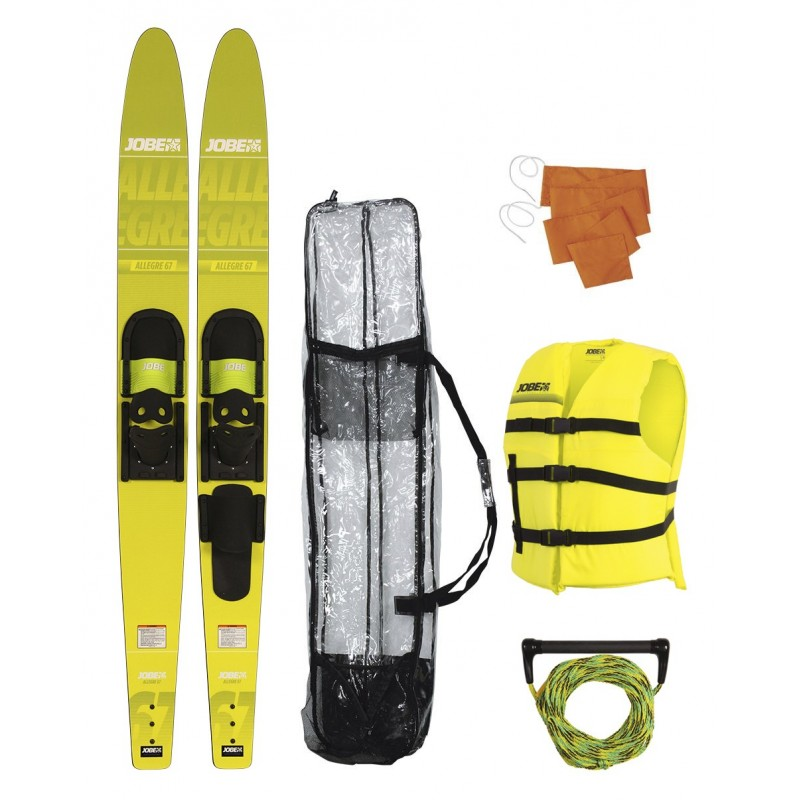JOBE ALLEGRE COMBO SKIS PACKAGE YELLOW - 67""