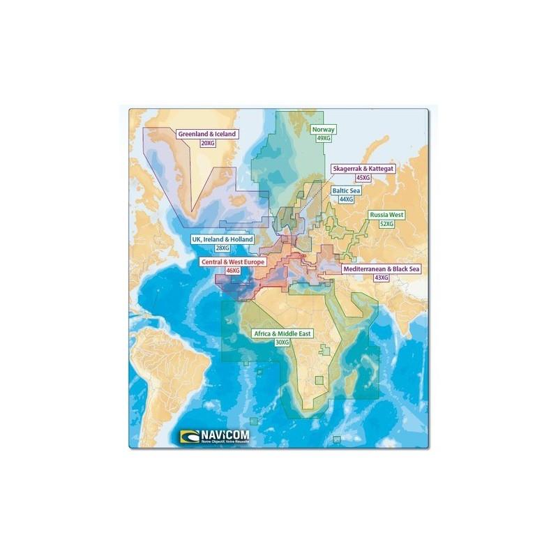 NAVIONICS+ GRANDES ZONES - SD - FRANCE, ESPAGNE .......