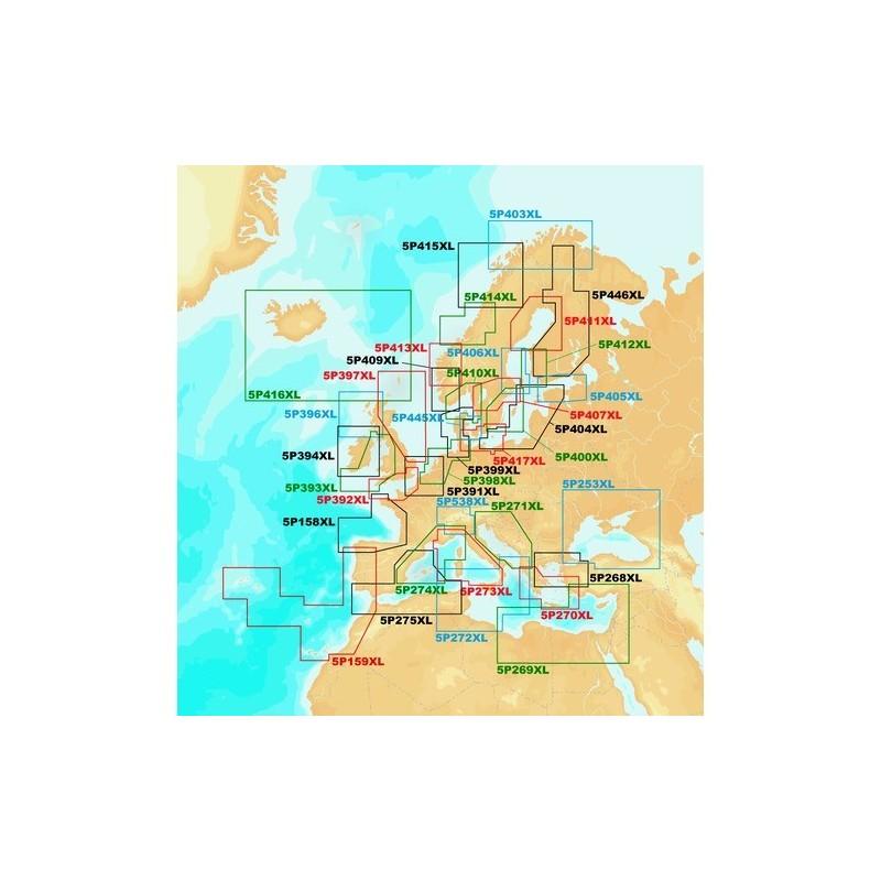 NAVIONICS PLATINUM+ XL - SD - MANCHE ET U.K.SUD