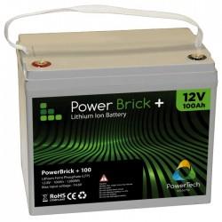POWERBRICK+ BATTERIE LITHIUM ION 12 V - 100 AH – LiFePO4 - GARANTIE 2 ANS